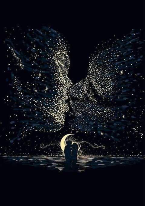 C'est si beau le mystère... Si éphémère et si violent de douceur, cet échange silencieux entre deux personnes... L'une qui arrive...L'autre qui attendait...