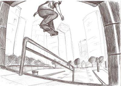 Otre dessin de skate skater 54360 - Dessin skateboard ...
