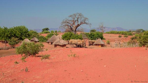 Zambie,  près de la frontière avec le Zimbabwe
