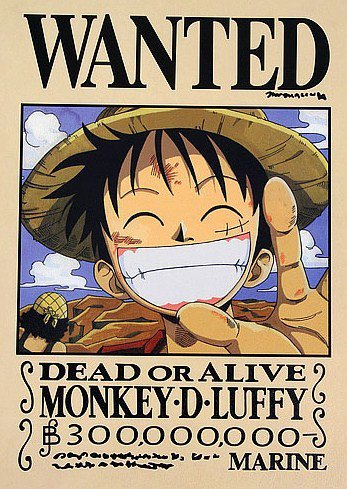Wanted luffy one piece mugiwara no luffy - Coloriage one piece wanted ...