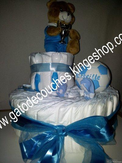 gâteau de couches l'OM