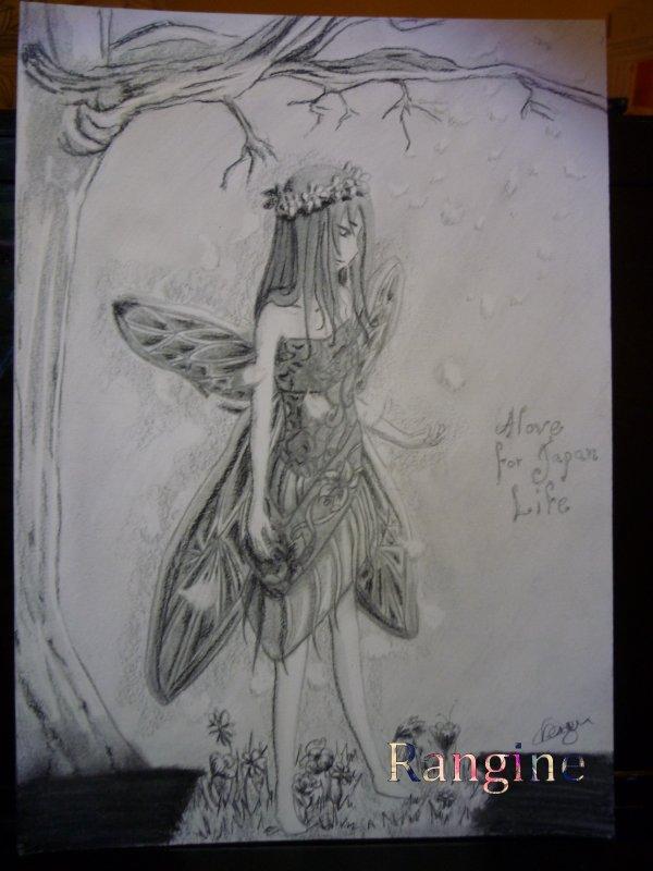 Dessin pour un concours avec le thème fée et imaginaire!!