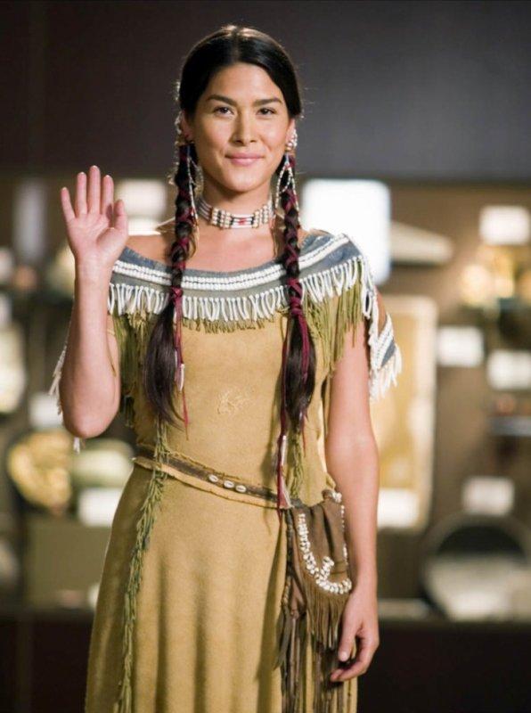 Sacagawea dans la nuit au musée