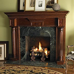 Traditional Wood Fireplace | Stone Fireplace Design | Fireplace Design Ideas | Wood Fireplace Design |