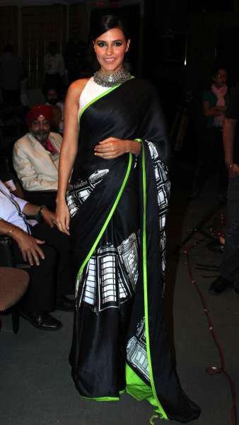 Neha Dhupia Sarees | Neha Dhupia Hairstyle | Neha Dhupia Dressing | Beautiful Neha Dhupia |
