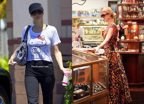 Paris Hilton à Mui, profite bien de son séjour, shopping, petit café sur la terrasse, plage bref elle s'occupe avec tout & rien.