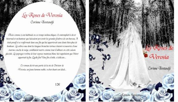 """Voici la couverture de mon troisième roman """"Les Roses de Verosia"""""""