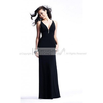 The Popular Colors of Custom V-neck Sequin Evening Dress Evening Dress 2012