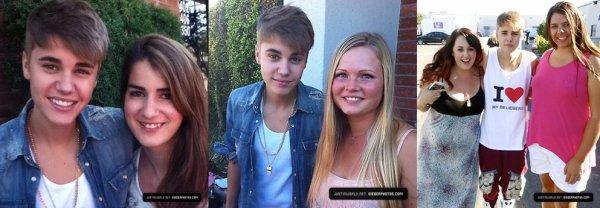 1 Septembre : Justin devant les studio de répétition du BT :