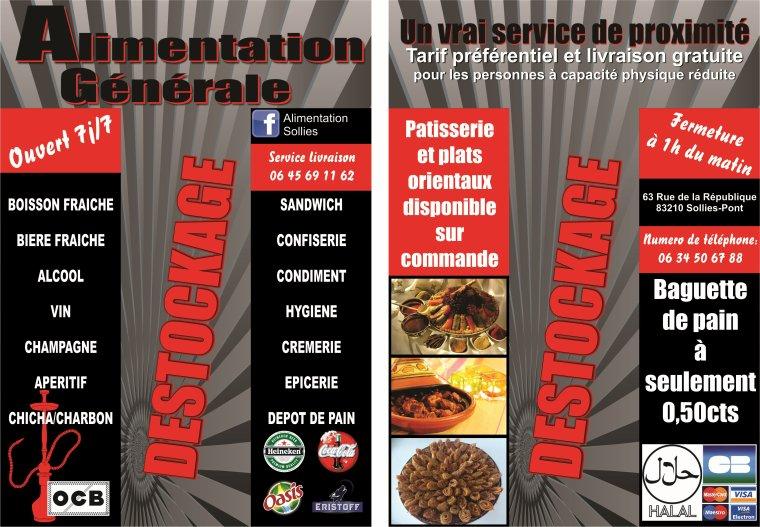 ALIMENTATION / SUPERETTE NOCTURNE DE SOLLIES PONT