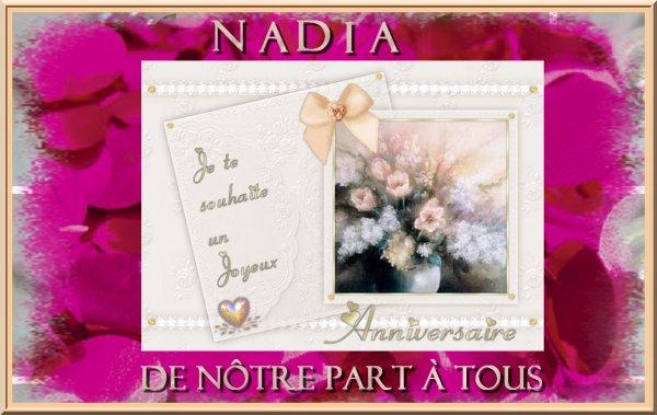 Joyeux Anniversaire Nadia Hammouche Les Fournieres