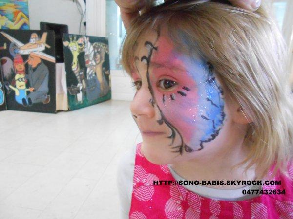 .....................maquillage petit cochon pour enfants 2 à 5 ans et autres.................................