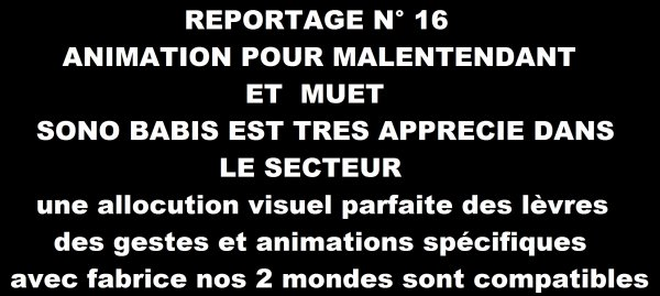 ANIMATION SOURDS ET MUETS