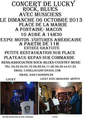 CONCERT DE LUCKY AVEC MUSICIENS LE 06 ocobre 2013