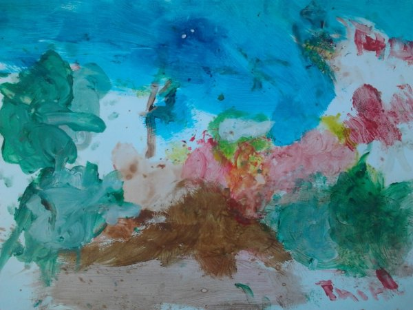 peinture à l'eau de mon fils