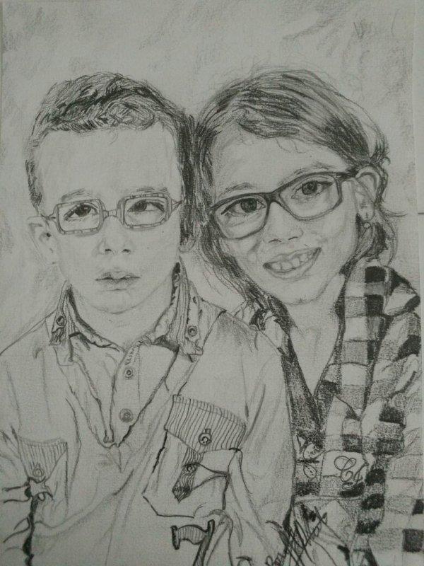 Yanis et sa soeur