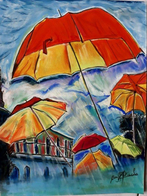 Envol de parapluies
