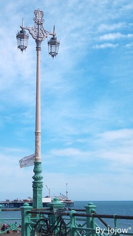 Un lampadaire à Brighton