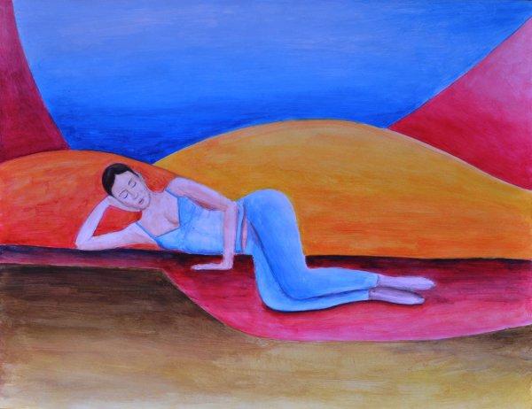 """Etude 19 Peinture acrylique  """"  Zen """""""