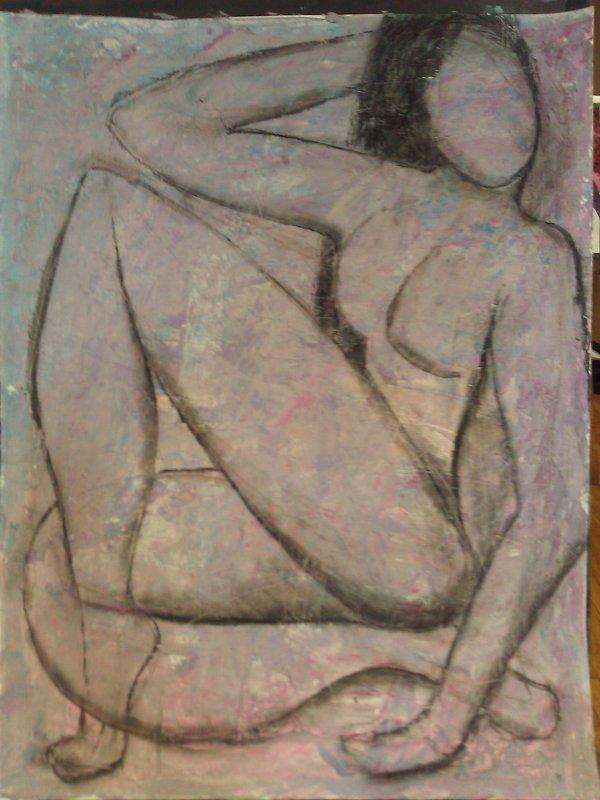 Acrylique sur papier + matiere repro modifier de Matisse fini