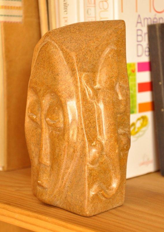 """""""Origine"""" sculpture sur pierre steatite"""
