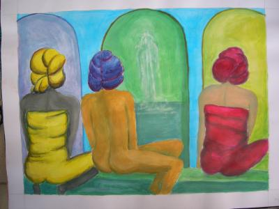acrylic sur papier 3