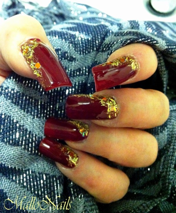 Cherry red & Gold