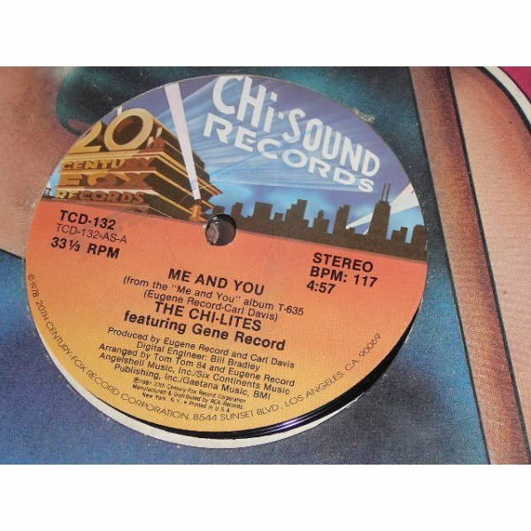 THE CHILITES 1981- me and you ( Chi Soun Record)