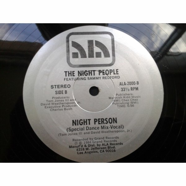 The Night People  -  the night people featuring sammy relford – night perso
