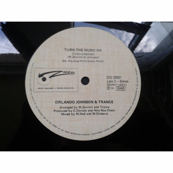 Orlando Johnson & Trance 1983   -  orlando johnson & trance – turn the music on Chez ZIG ZAG RECORDS