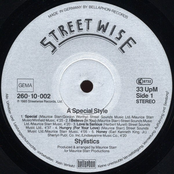 """STYLISTICS - LP - """" A Special Style """""""