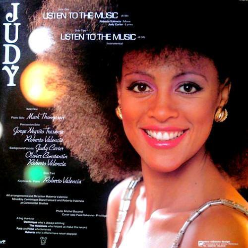 JUDY CARTER 1982- listen to the music label (Paco Rabanne Design).