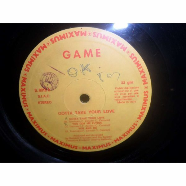 "GAME 1982   - "" Gotta Take Your Love"