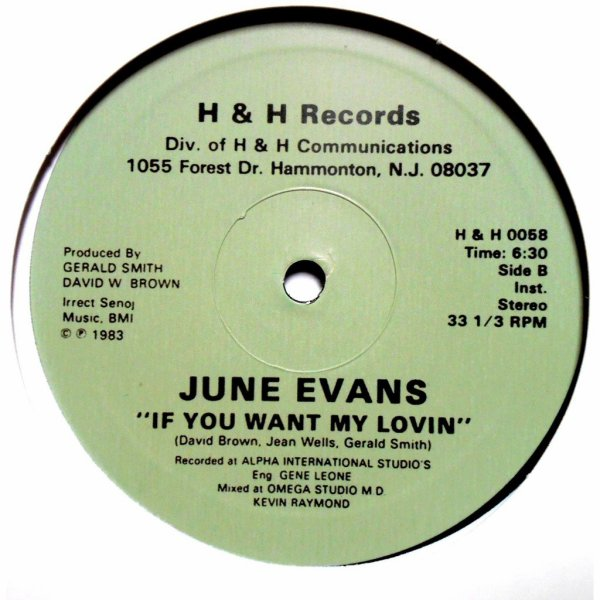 June Evans 1983  -  If you want my lovin ( Réedition)