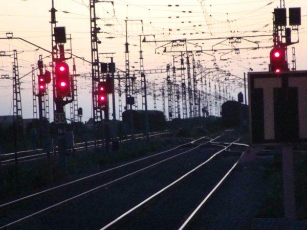 Vue de nuit de la gare dd'El Jadida