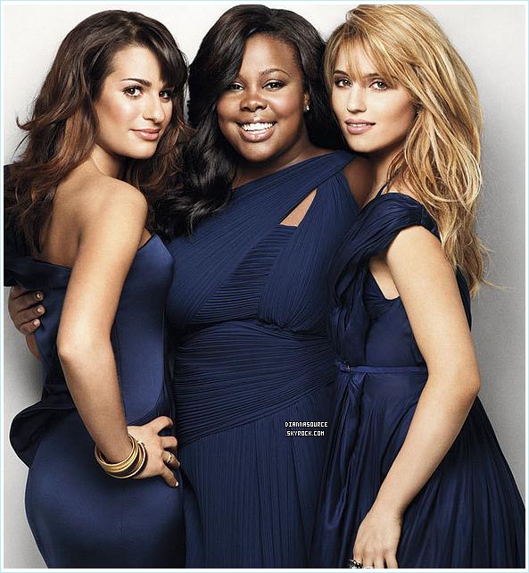 •                                                          ◊                                                           •  D' , Lea Michelle & Amber Riley pour le magazine « Marie Claire » de Mai 2011. Quatre couvertures vont être mis en vente pour le mois de mai 2011. Comment trouvez-vous les photos ?