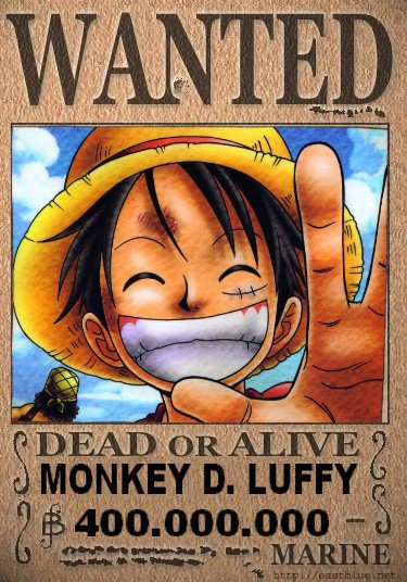 Monkey d luffy wanted one piece76 - One piece luffy wanted ...