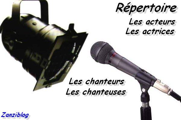 Répertoire Acteurs et Chanteurs