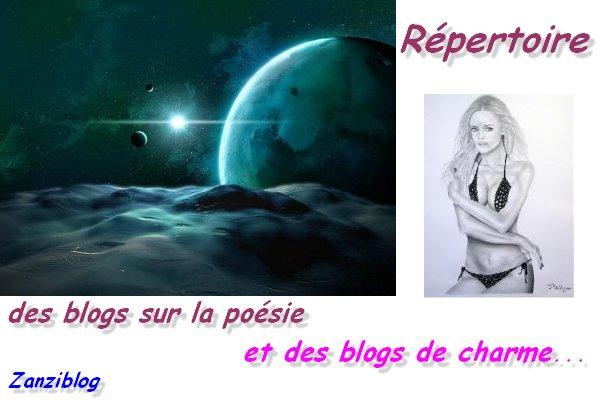 Répertoire des blogs sur la poésie et des blogs de charme...