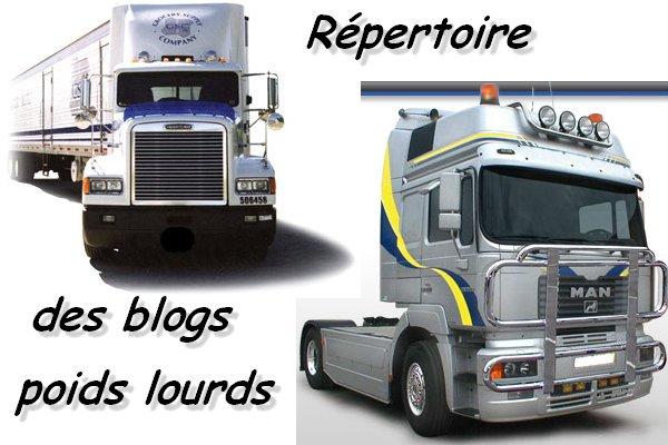 Répertoire des blogs sur les poids lourds