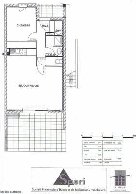 plan appartement t2 45m2