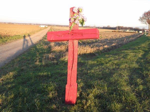 Images du Haut-Rhin : La « Croix Rouge », non loin de Merxheim !...