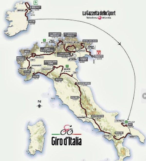 Le 97 ème Tour d'Italie débute, aujourd'hui !...