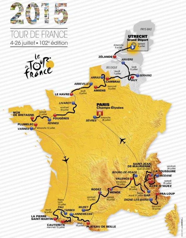 Le 102 ème Tour de France a été dévoilé, hier, mercredi 22 octobre 2014, au Palais des Congrès, à Paris !...