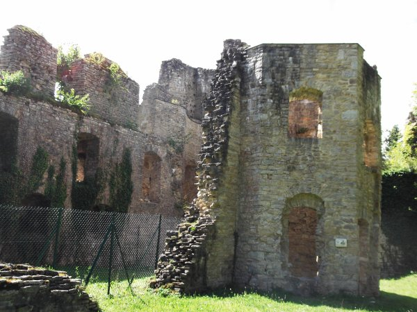 Images du Haut-Rhin : Le château du Morimont à Oberlarg !...
