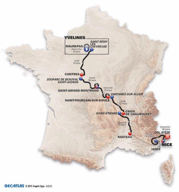 Le 73 ème Paris - Nice débute, aujourd'hui !...