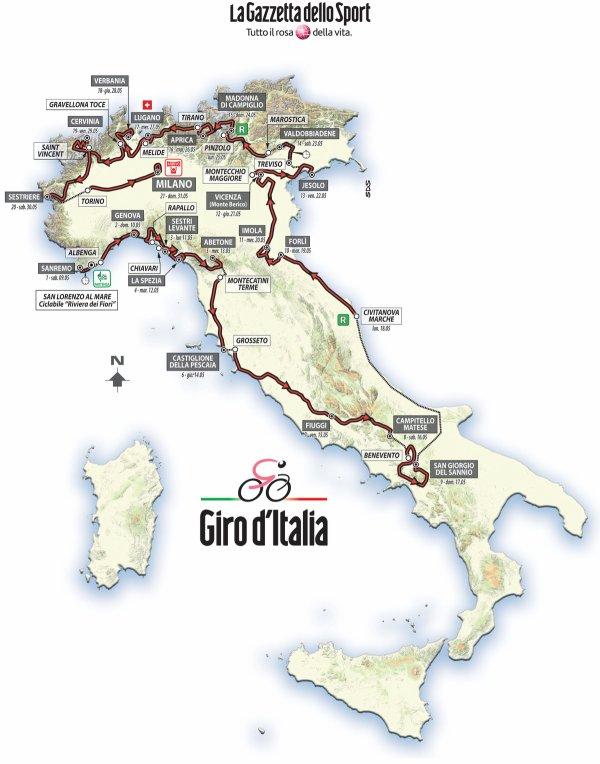 Le 98 ème Tour d'Italie débute, aujourd'hui !...