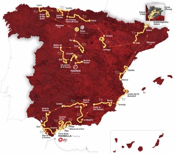 Le 70 ème Tour d'Espagne part, aujourd'hui !...