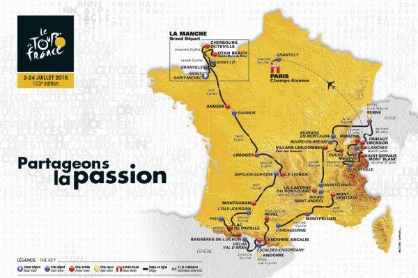 Le 103 ème Tour de France a été dévoilé, hier, mardi 20 octobre 2015, au Palais des Congrès, à Paris !...