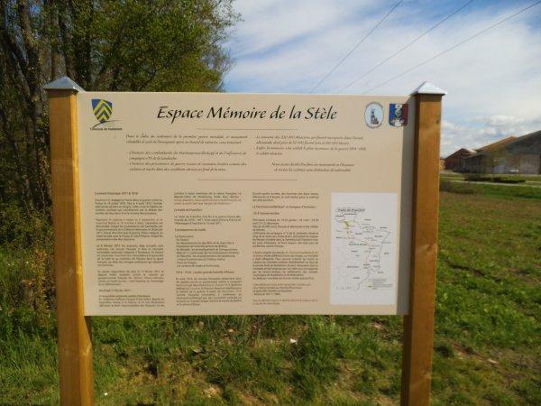 Images du Haut-Rhin : L' « Espace Mémoire de la Stèle » à Wittenheim !...